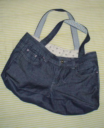 Tutorial borsa jeans riciclo creativo pinterest for Borsa jeans tutorial