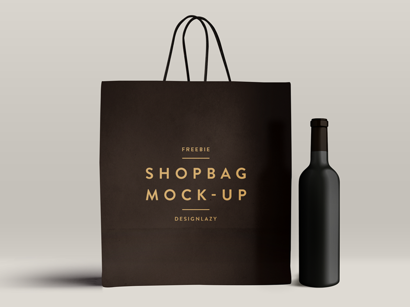 Shopping Bag Mockup PSD | Logos, Shopping and Logo design