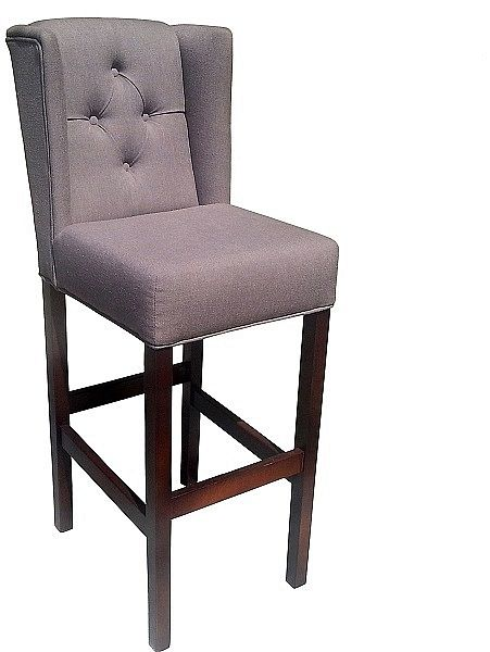Krzesło Barowe Tapicerowane Pikowane Do Kuchni Baru