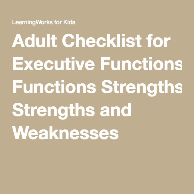 Adult add executive function russel