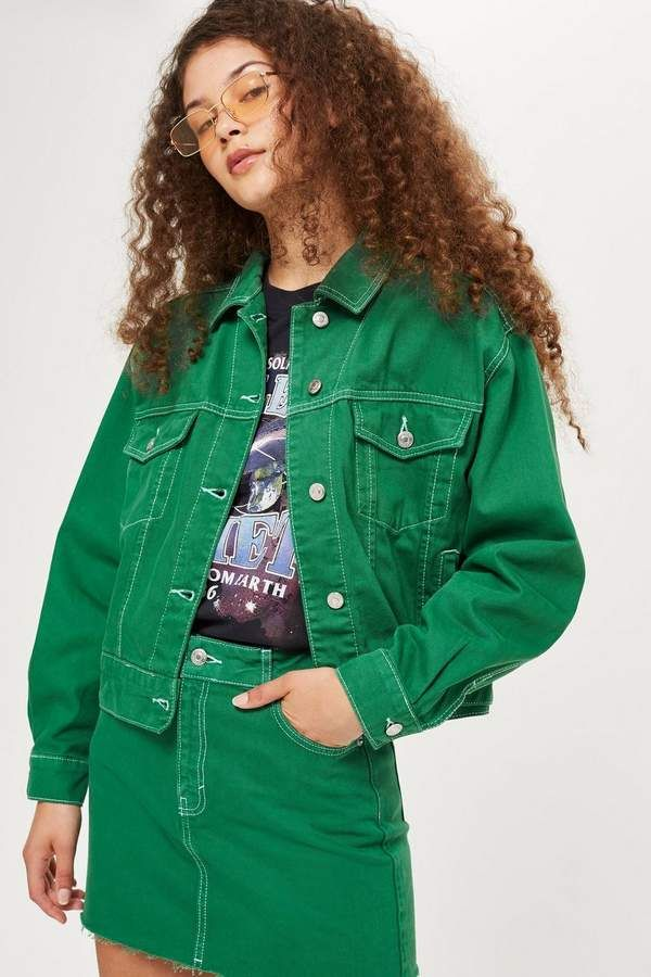 88699185b062 Green Denim Skirt | Products | Denim skirt, Denim skirts online ...