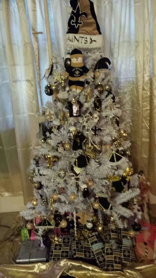 New Orleans Saints White Christmas Tree | My New Orleans Saints Diva ...