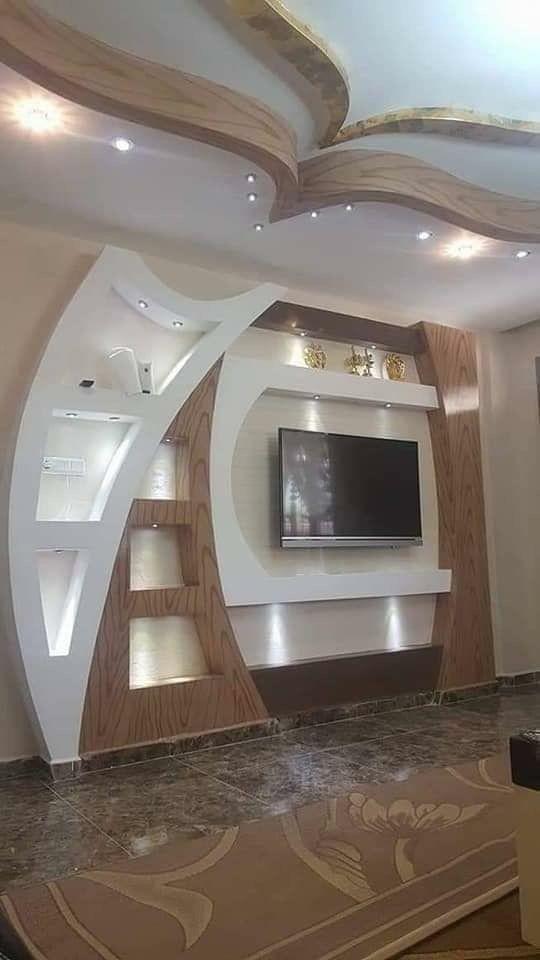 Pin By Mahmoud Elgamal On Home Ceiling Design Modern Tv Wall Design Living Room Tv Unit Designs