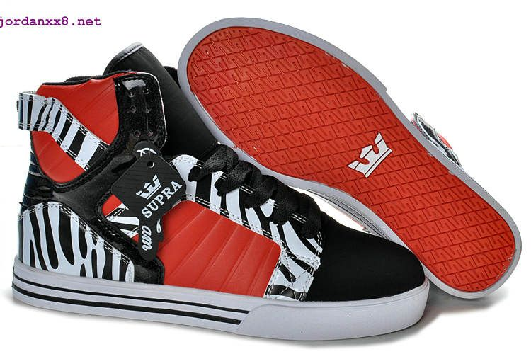 Red Zebra style | Supra shoes, Shoes, Black high tops