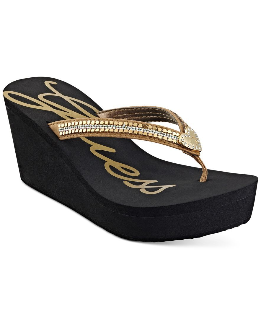 5bc95a4e0c9e Guess Women s Stefana Wedge Flip-Flop Sandals