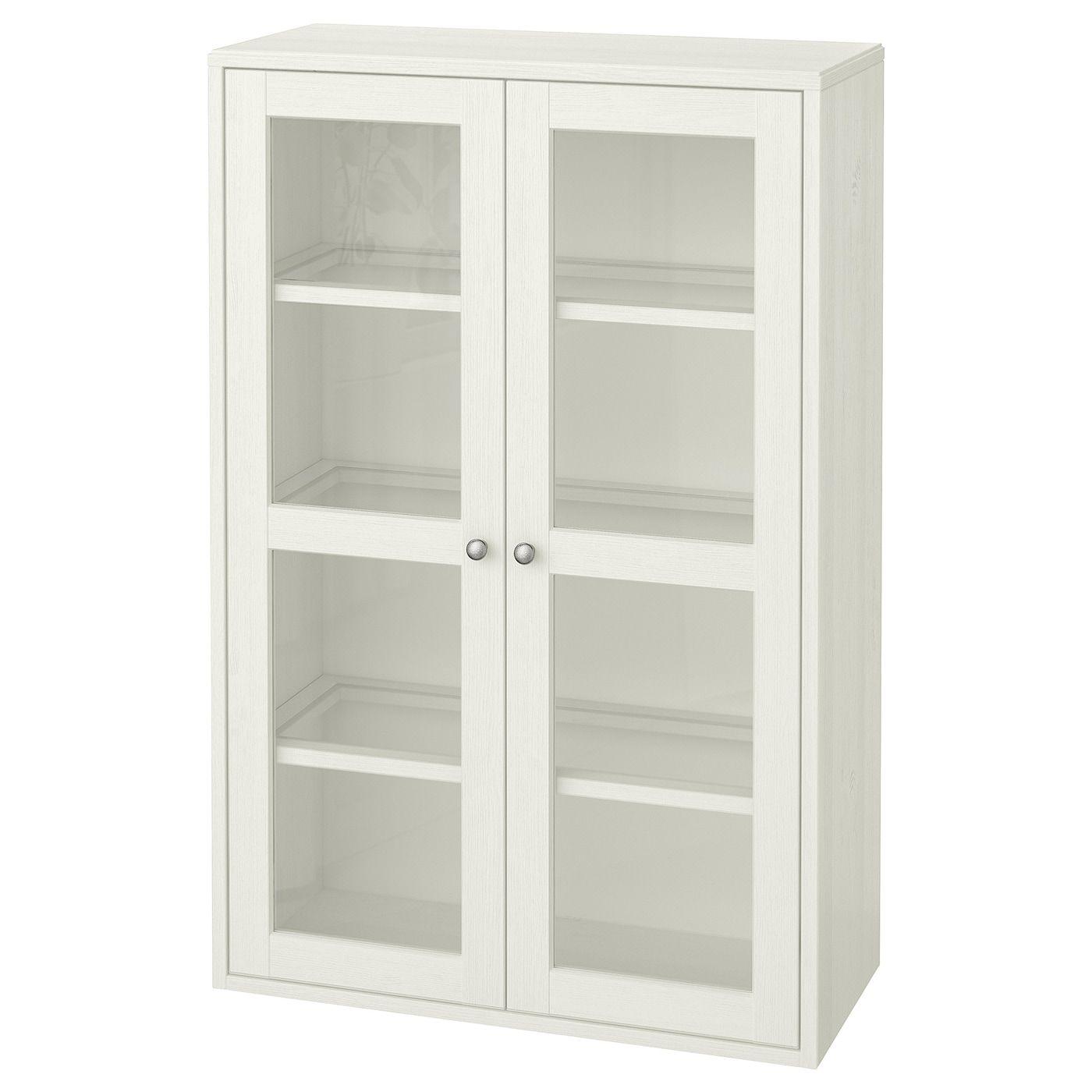 Havsta Glass Door Cabinet White 31 7 8x13 3 4x48 3 8 Ikea In 2020 Glass Cabinet Doors Glass Door Ikea