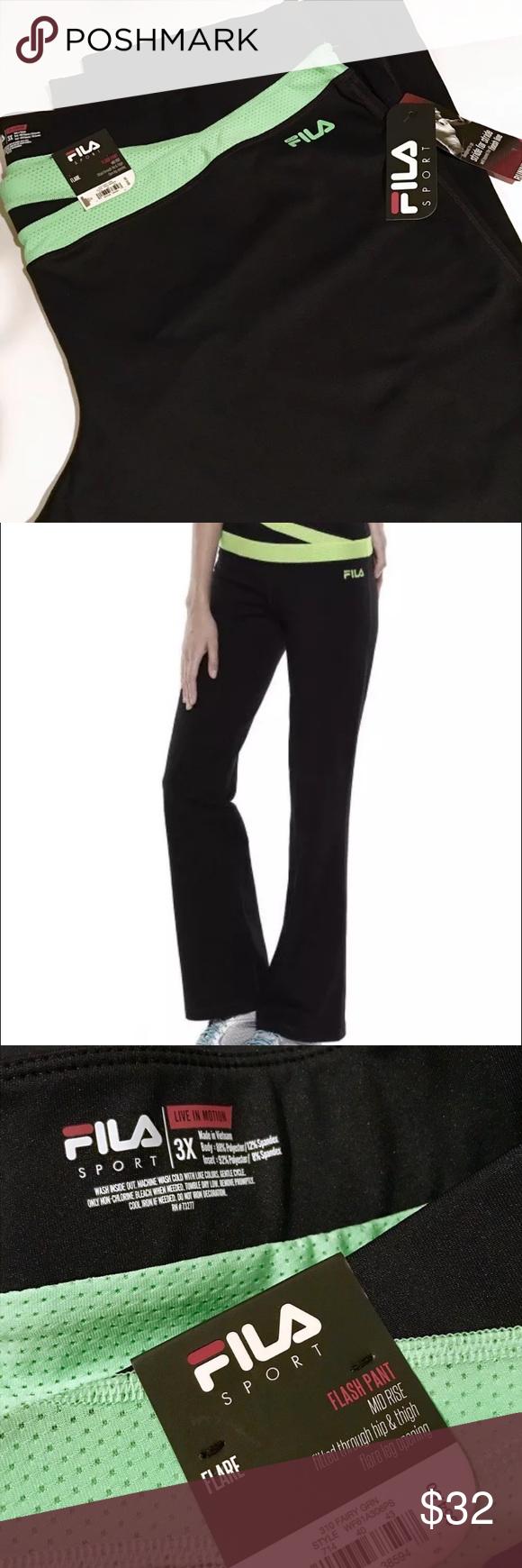 NWT FILA SPORT Flash Pants Authentic FILA SPORT FLASH