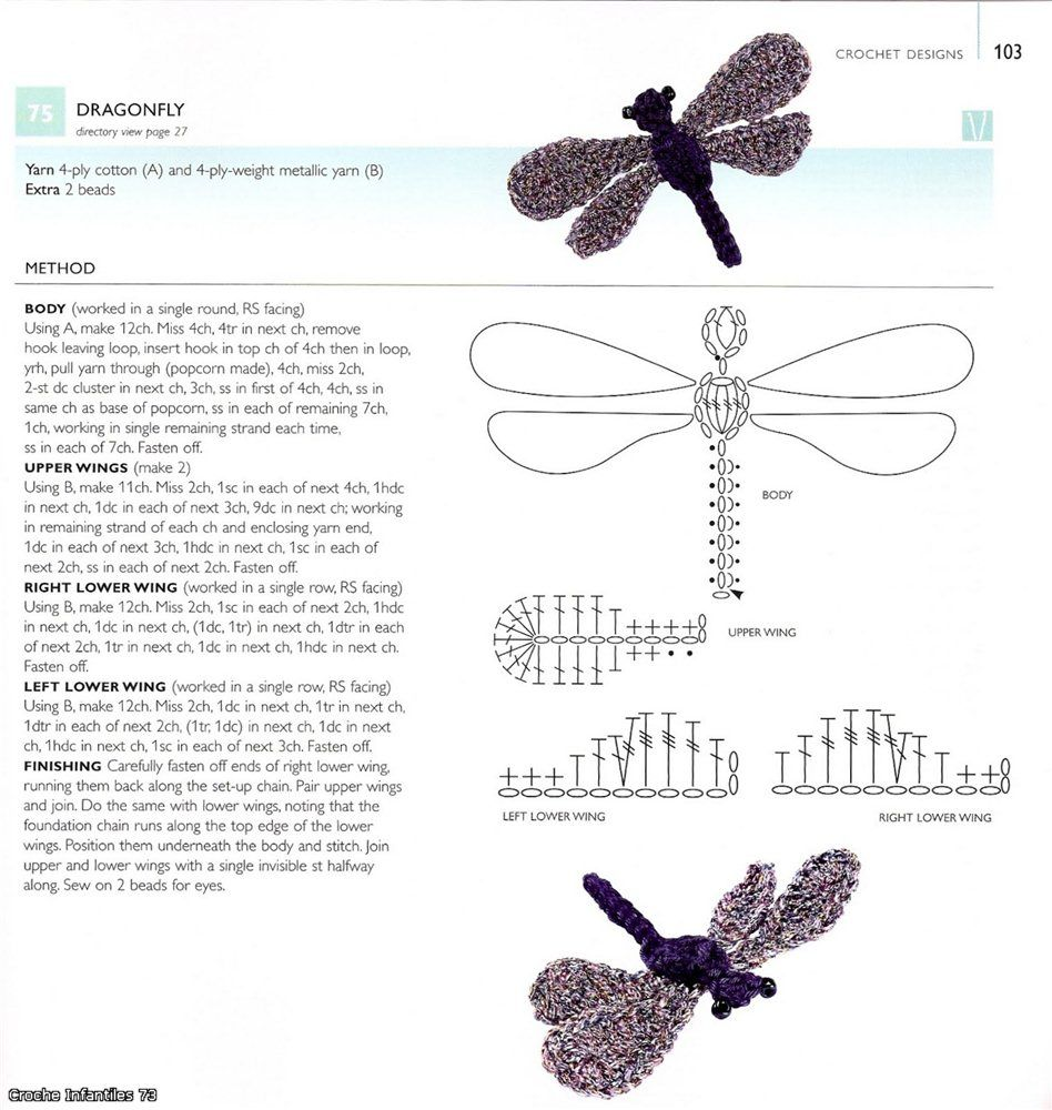 Crochet dragonfly | häkeln | Pinterest | Libellen, Häckeln und Maritim