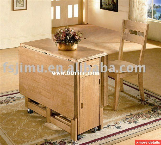 Indoor Furniture Contemporary Oak Folding Dining Table / Hong Kong Dining  Room Sets For Sale