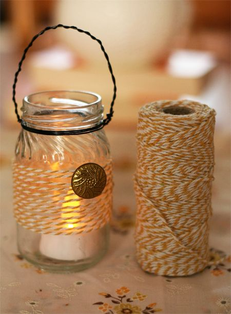 Decorate A Jar Bakers Twine Mason Jar Lantern  Mason Jars  Pinterest  Mason