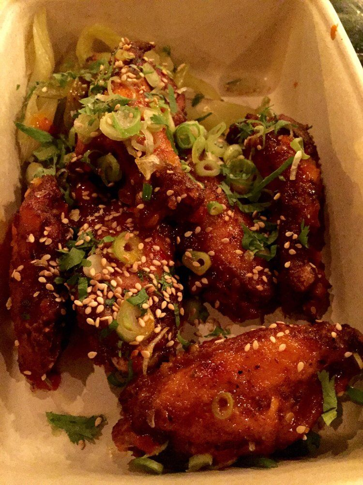 Spicy chili-lime-garlic wings  at Mighty Quinn's BBQ (LES)