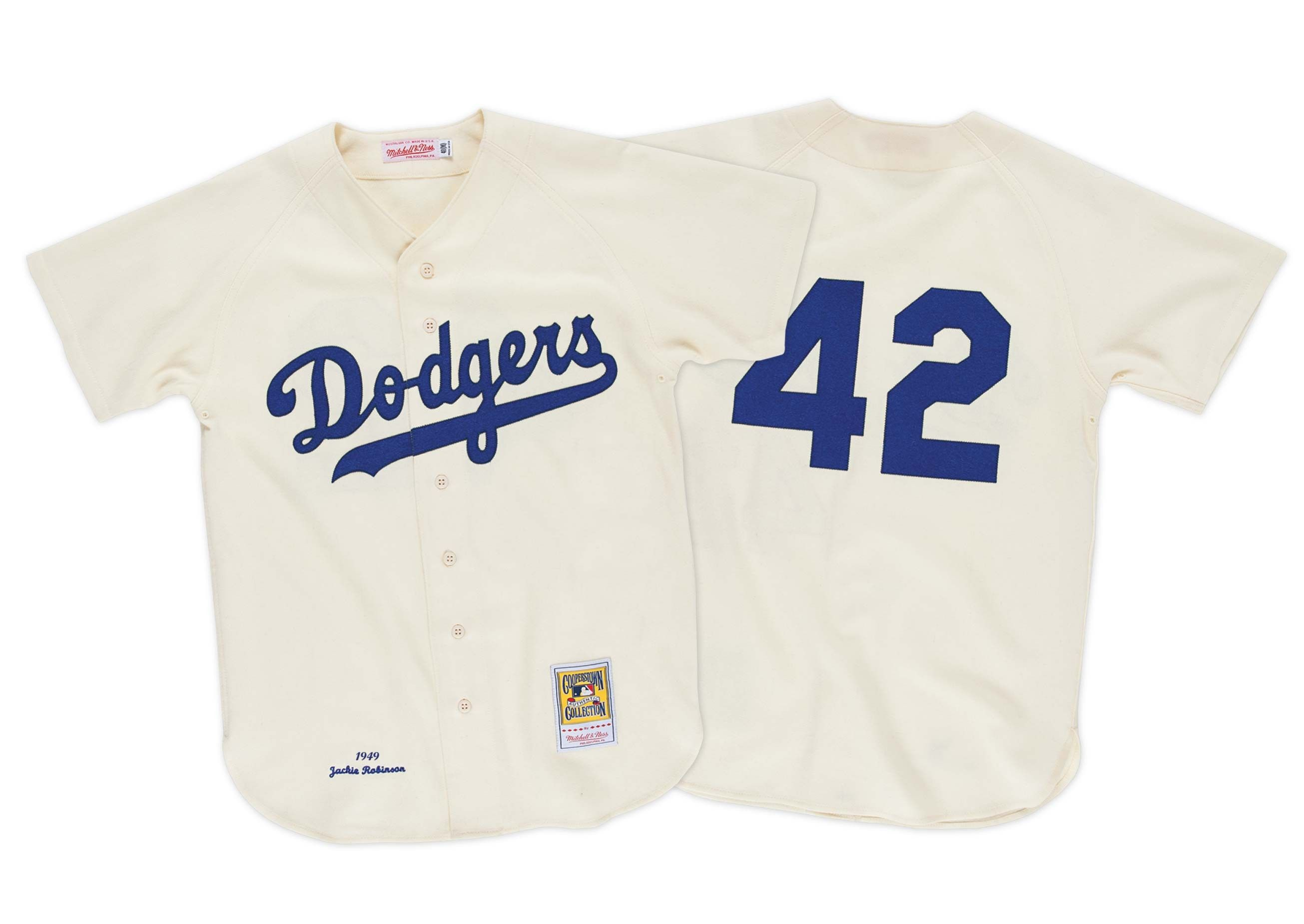 205ffde2b90 ... throwback apparel collection featuring authentic jerseys and team gear.  Brooklyn Dodgers Jackie Robinson