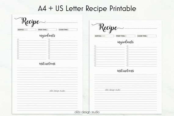 Recipe Journal Template from i.pinimg.com