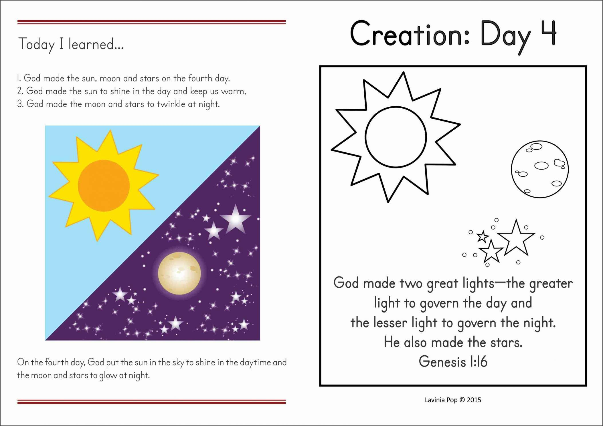 16 Stars Moon Sun Worksheet Preschool