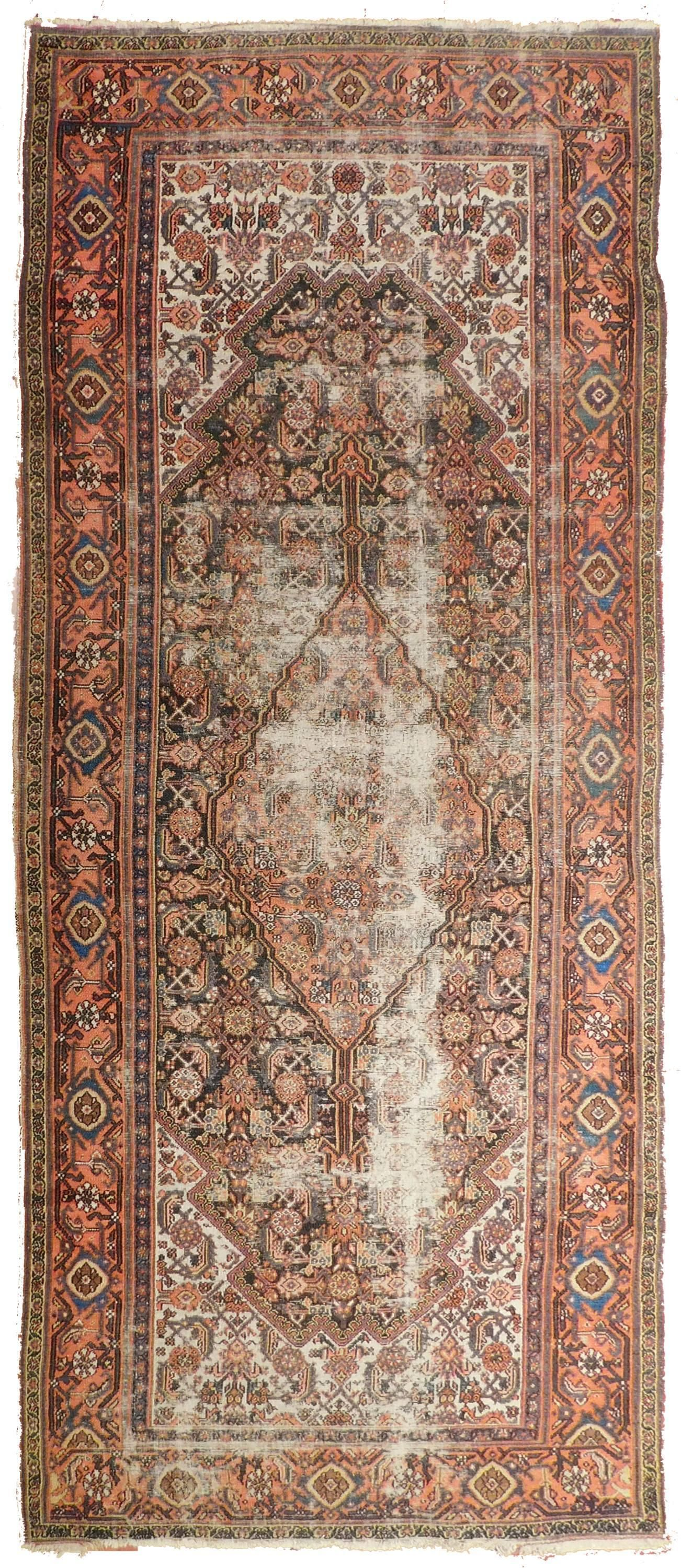 Tappeti Persiani Corridoio Distressed Antique Persian Malayer Rug 3 6 X 9 9 Tappeti