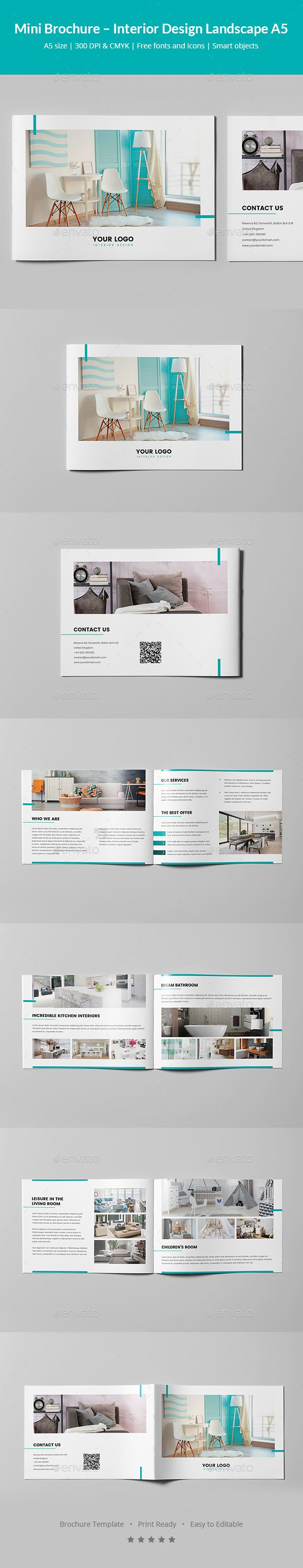 Mini Brochure Interior Design Landscape A5 Pinterest Brochures