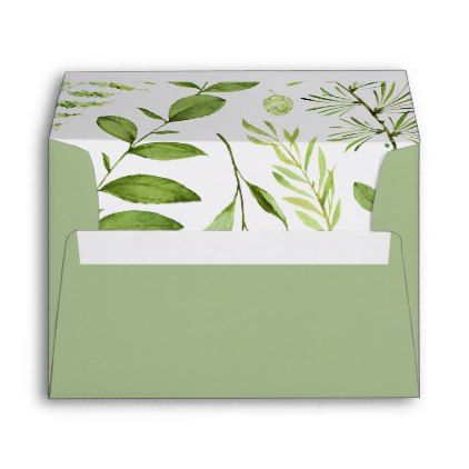 Wild Meadow X Return Address Envelope  Pattern Sample Design