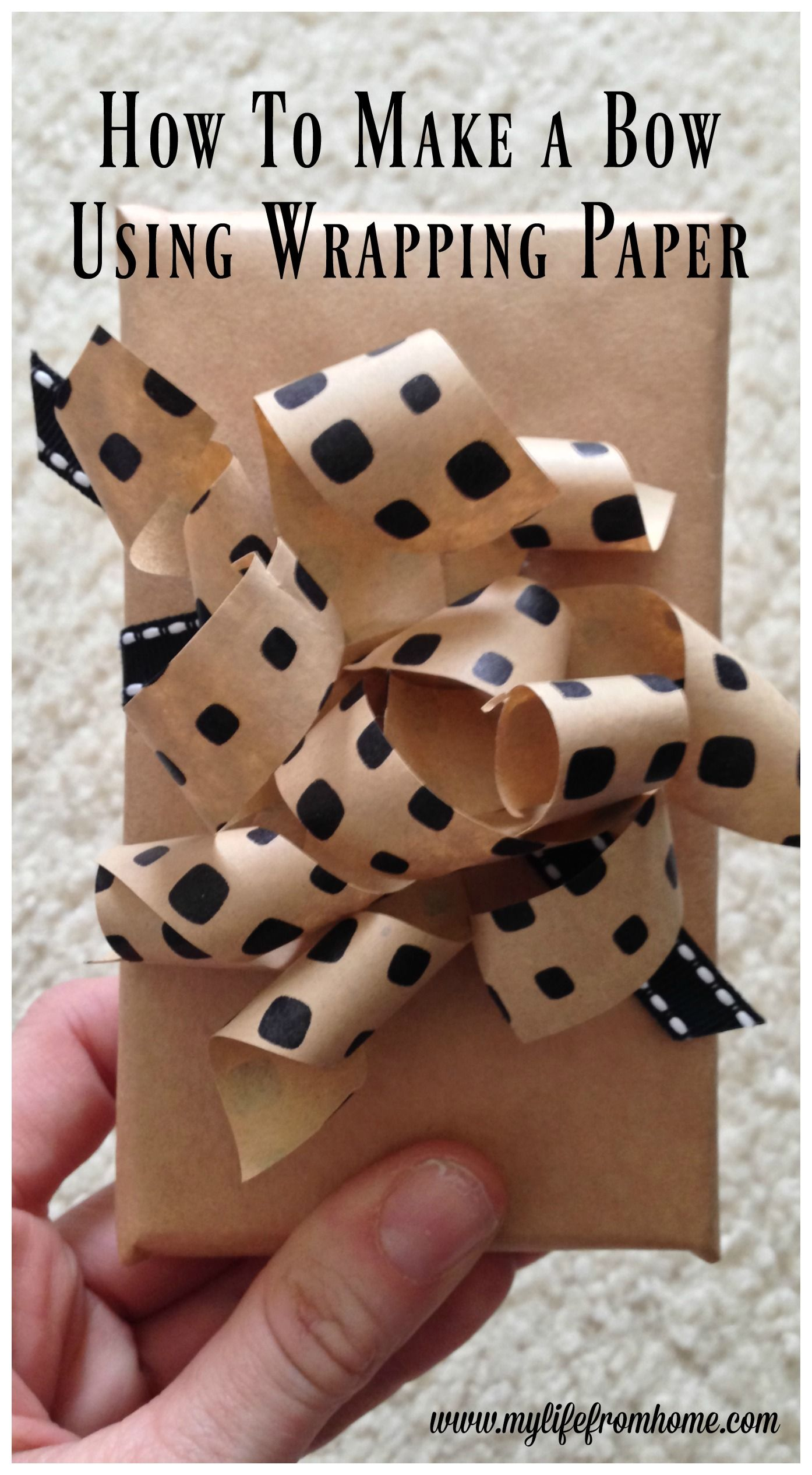 How To Make A Bow Using Gift Wrap Bows Making