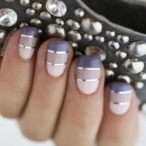 Grey, pink and stripes