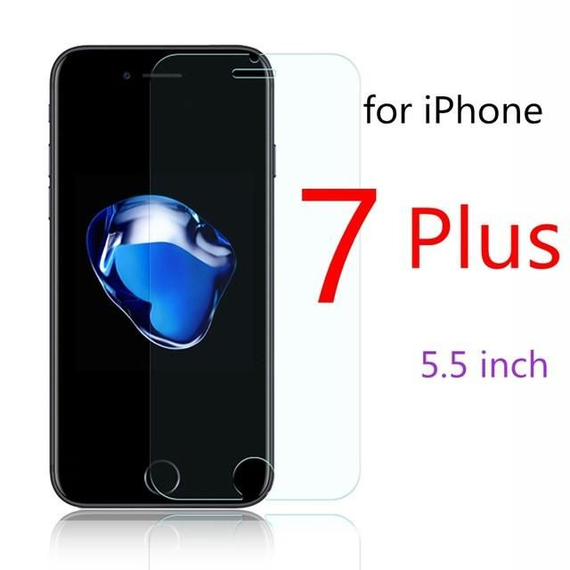 FRVSIMEM Front Explosion-Proof 9H 2.5D Tempered Glass for iPhone 5C 5 5s SE 6 6s Plus 7 Plus 4 4s Screen Protector Film Case