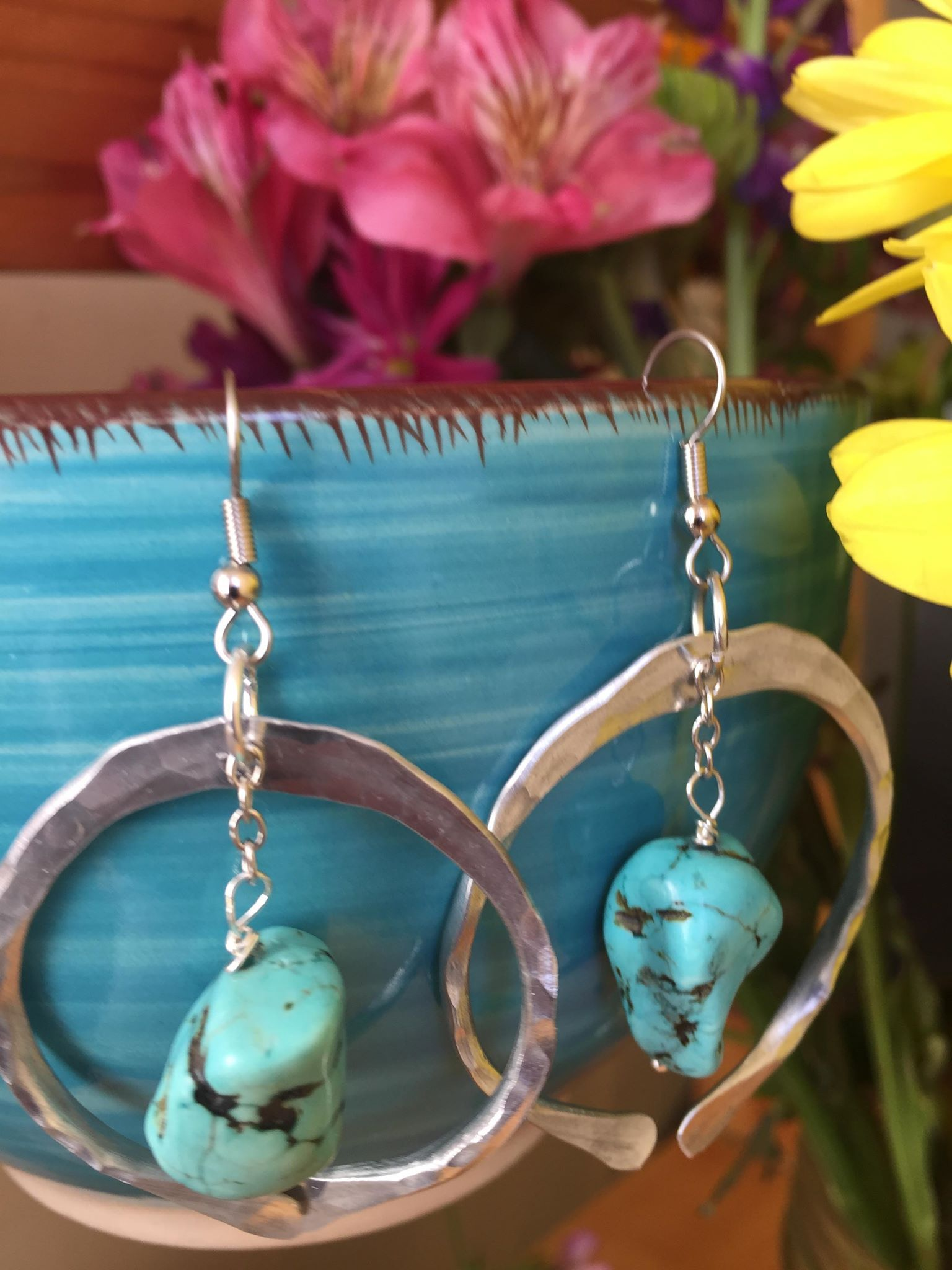 Another Turquoise Inspired Set Of Earrings Perfect For Gift Giving African Turquoise