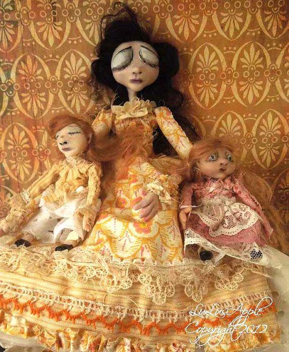 Memento Mori Art Dolls Victorian Gothic dolls dead Mother and Children OOAK RESERVED #dollvictoriandressstyles