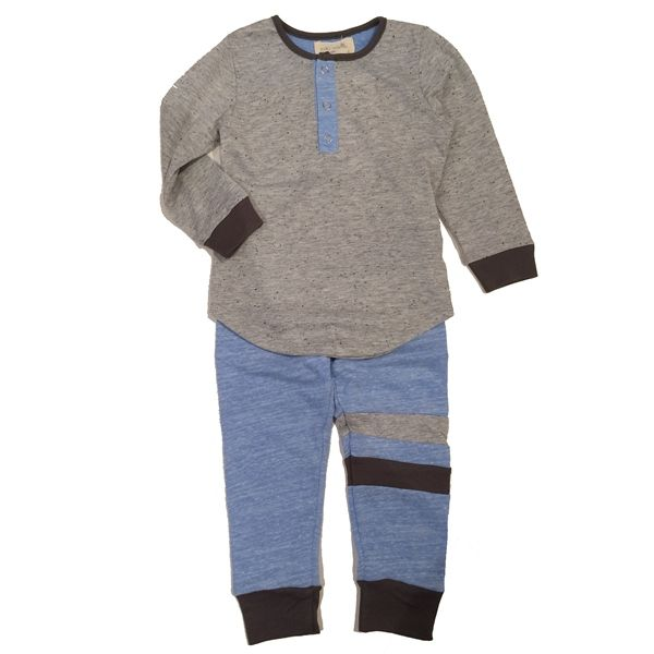 Miki Miette Boys Long Sleeve Henley and Pant from Miki Miette - Los Angeles at Pumpkinheads : Pumpkinheads
