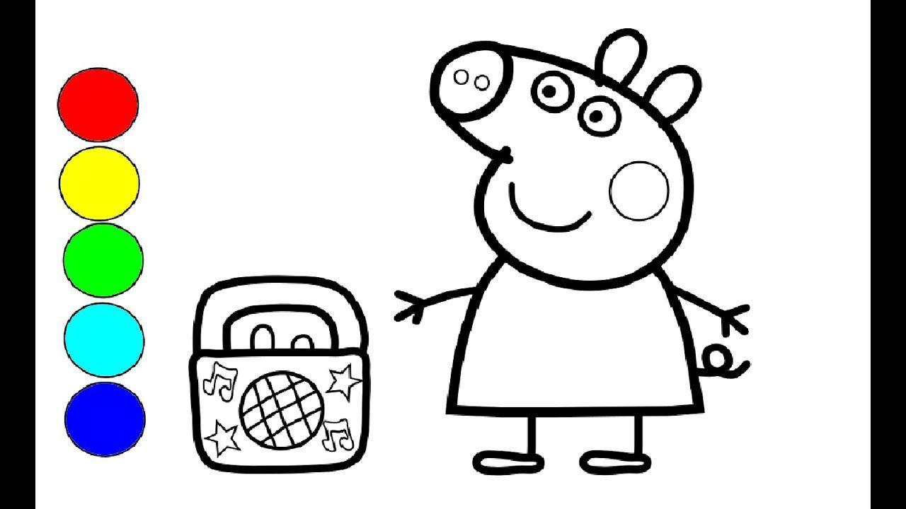 peppa wutz tanzen deutsch zeichnen und malen peppa pig