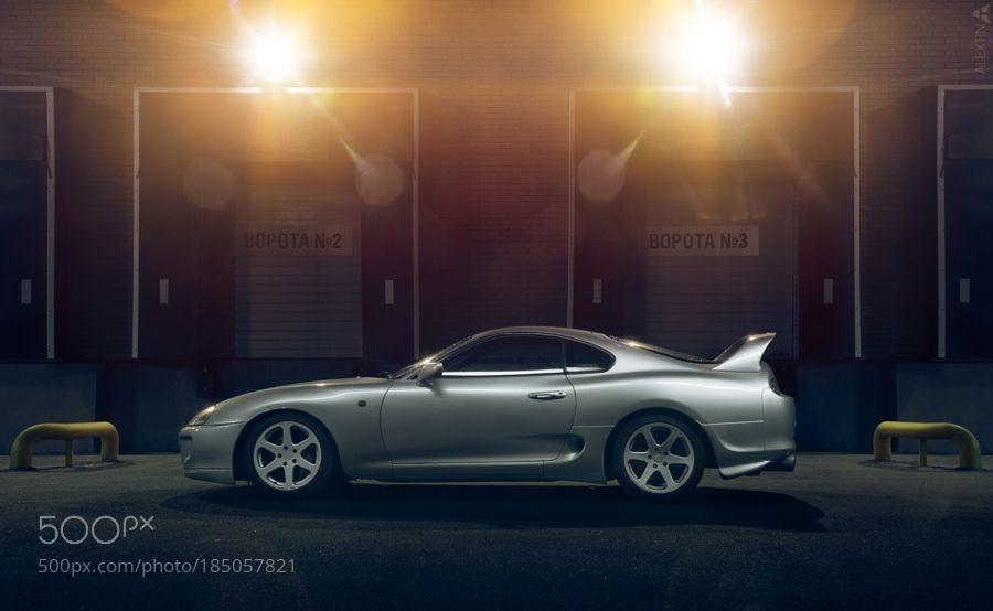Toyota Supra by alextin_auto with cityautomotiveautonightcartransporttransportationoutdoorurbanlightstokinaindustrialvehicletoyotaautomobilejdmsupraautophotographynikon d600fotostation