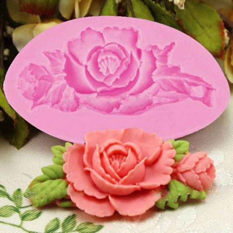 1x Silicone 3D Rose Flower Fondant Cake Chocolate Mold Mould Modelling Decor CA #Unbranded