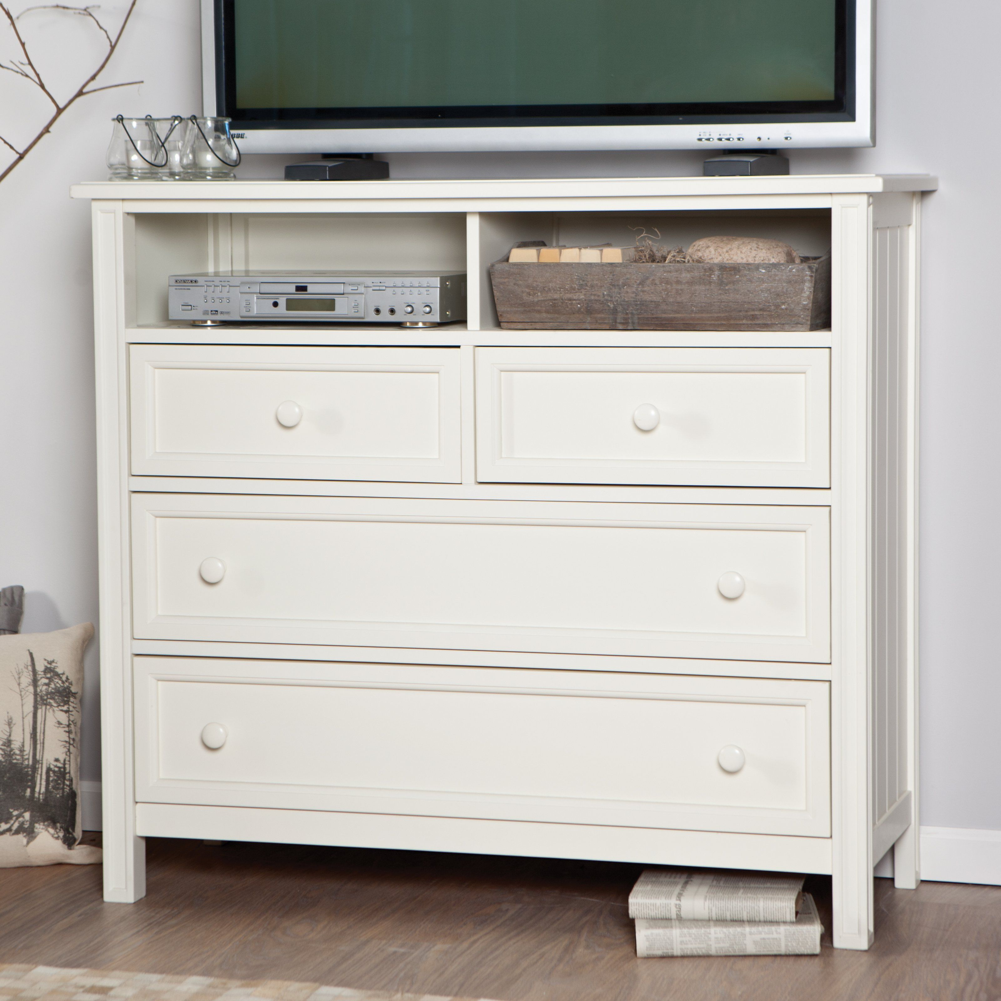 Casey Media Chest - White - Whether you use it for entertainment ...