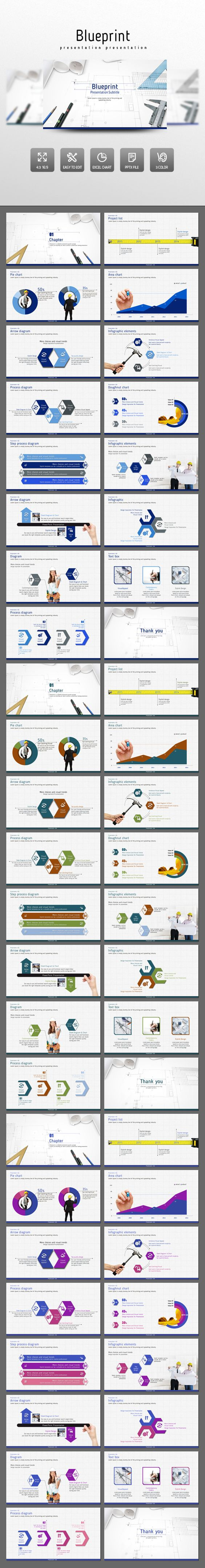Blueprint powerpoint presentation template design slides buy blueprint by on graphicriver blueprint presentation template contains imagesphotos that people in the architectural or architecture related busi malvernweather Images
