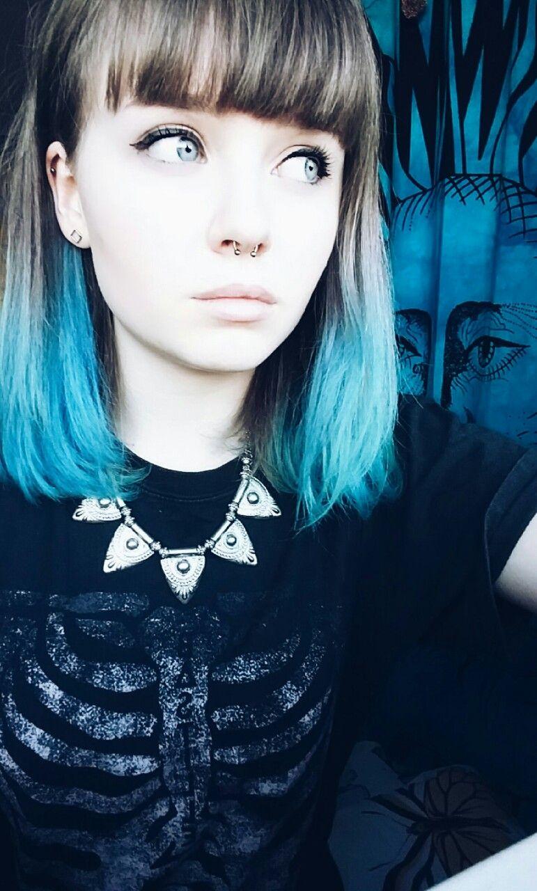 Septum piercing tumblr hair in pinterest vlasy