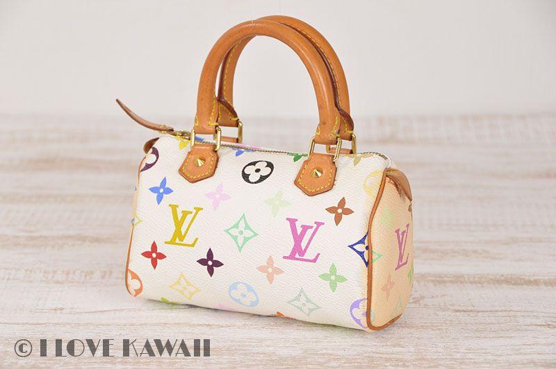 d2c055f0cc28 Louis Vuitton Monogram Multicolor White Mini Speedy Cosmetic Bag M92645