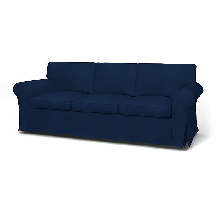 Ektorp Soffoverdrag 3 Sits Regular Fit Med Tyget Panama Cotton Deep Navy Blue Sofa 3 Seater Sofa Sofa Covers