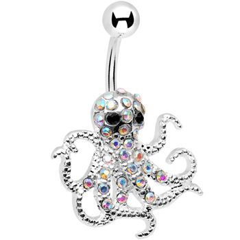 Boho Body Piercing Rhinestone Palm Starfish Owl Navel Ring Belly Button Barbell