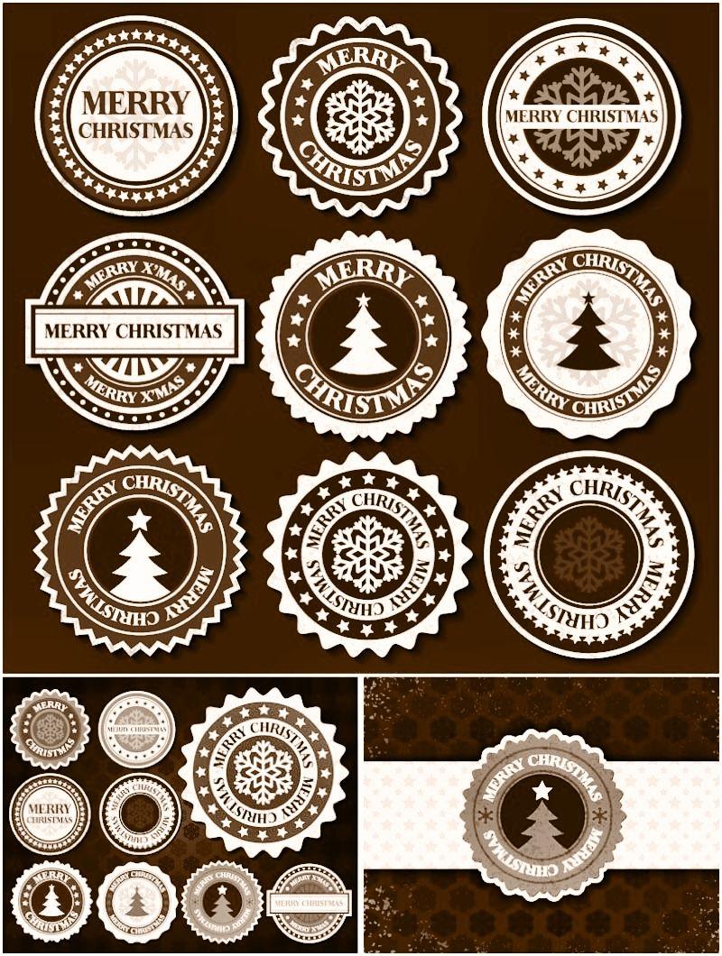 Free Christmas Labels Tags Rustic Christmas Free