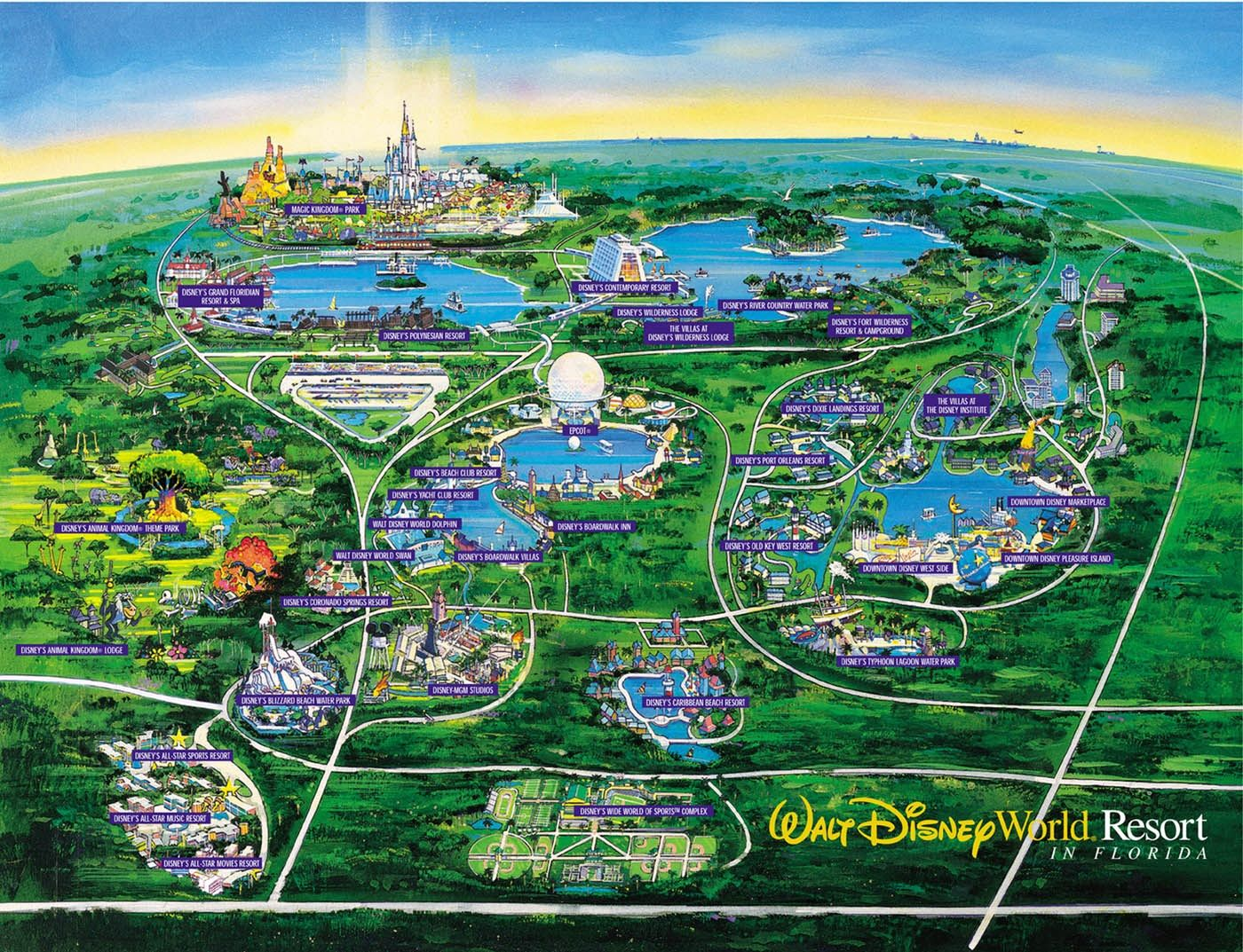 Images Of Disneyworld Map Disney World Map See Map Details From