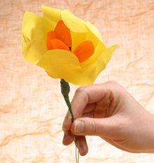 Kukkia kreppipaperista