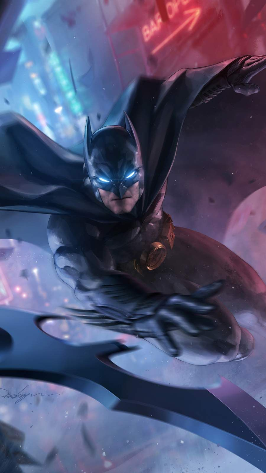 Batman Attack Iphone Wallpaper Batman Comic Art Batman Artwork