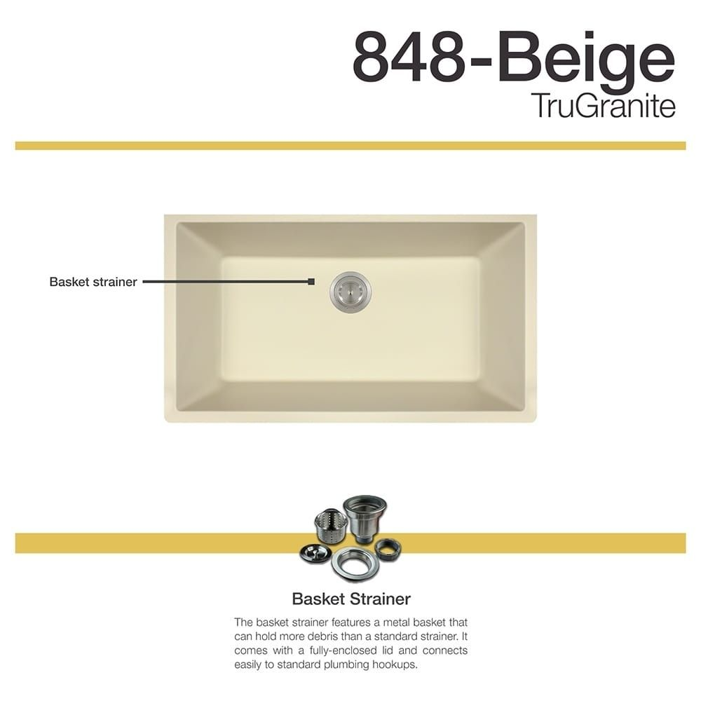 MR Direct 848 Beige Sink (strainer) | Sinks, Beige and Outlet store