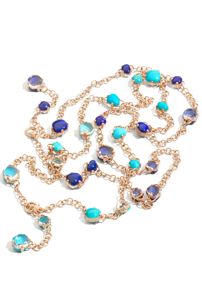 Pomellato Capri Turquoise and Lapis & Rock Crystal Necklace | Oster Jewelers