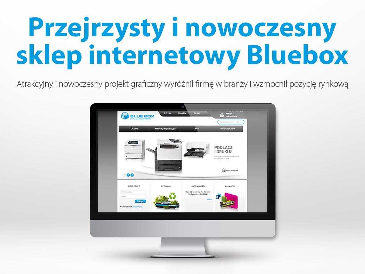Przejrzysty I Nowoczesny Sklep Internetowy Bluebox Phone Electronic Products Shopping