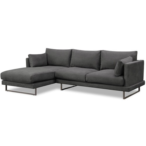 Temple Webster 3 Seater Grey Zanda L Shaped Sofa Reviews L Shaped Sofa L Shaped Sofa Designs Sofa Bed With Storage