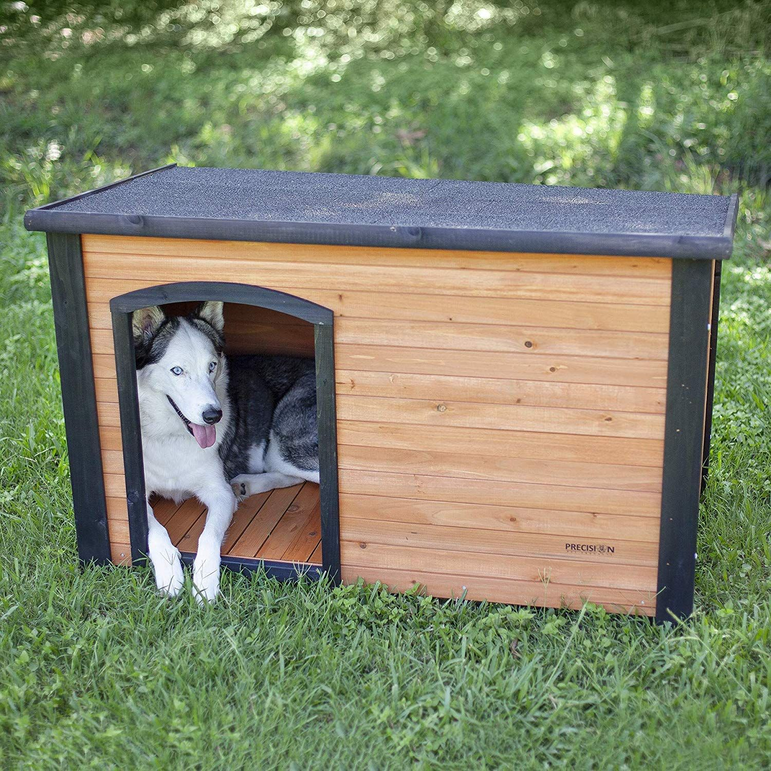 Plastic Feet And Raised Floor Keeps Pets Dry In Rainy Weather Perfect Dog House Dog House Cool Dog Houses Best Dogs