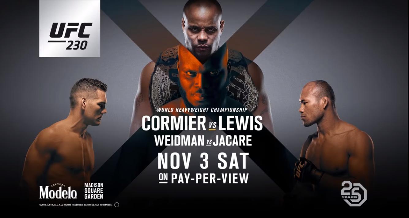 Ufc 230 Cormier Vs Lewis Held On November 3 2018 At Madison Square Garden Ufc230 Ufc230live Ufc230livefights R Ufc230live Ufc Ufc Fight Night Ufc Live
