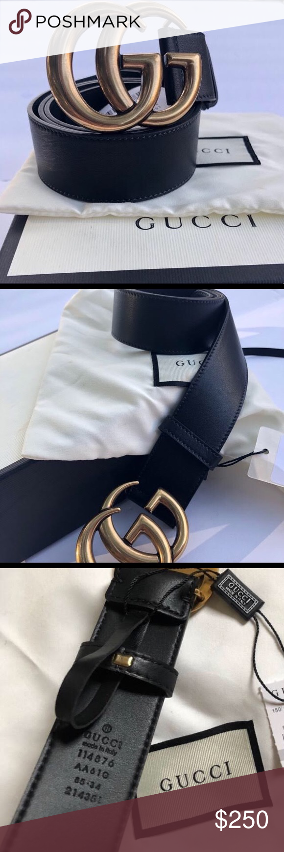 072460c0a1a NEW Gucci Double GG Gold Buckle Belt w  BOX   Acc Brand new Firm price no  offers Gucci Accessories Belts
