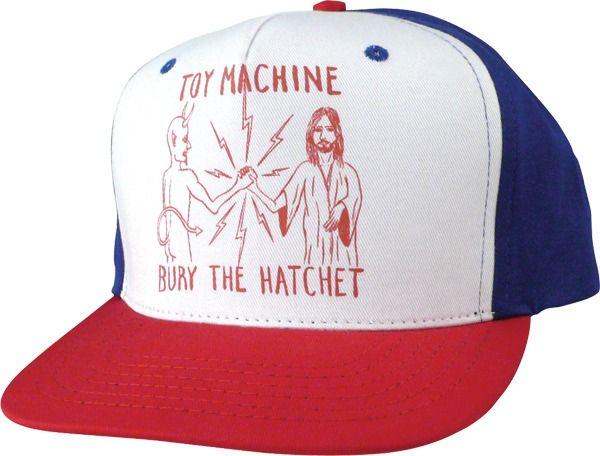 Toy Machine Bury the Hatchet Mesh Trucker Hat at Warehouse Skateboards      skateboarding 2064a0db5a0f