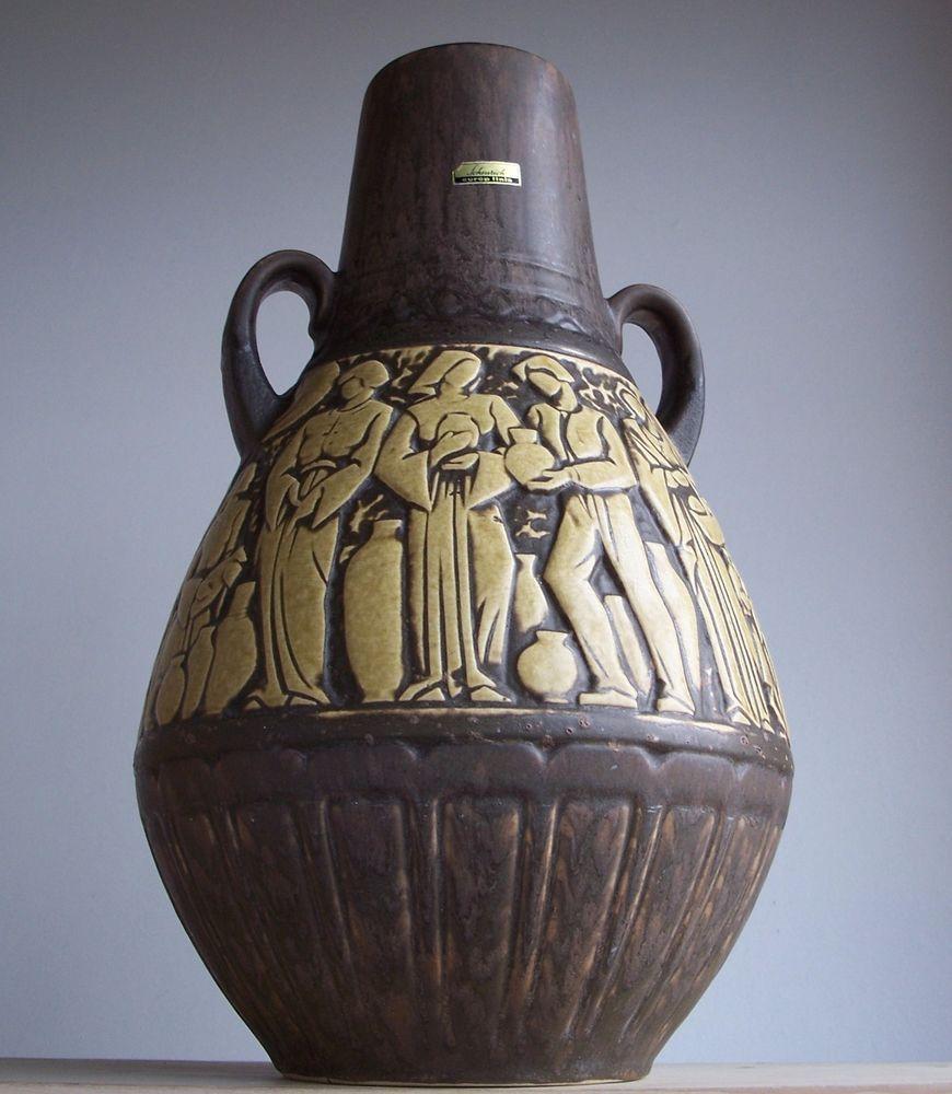 Vintage 1960s-1970s SCHEURICH Keramik German Pottery Floor Vase Fat Lava Period