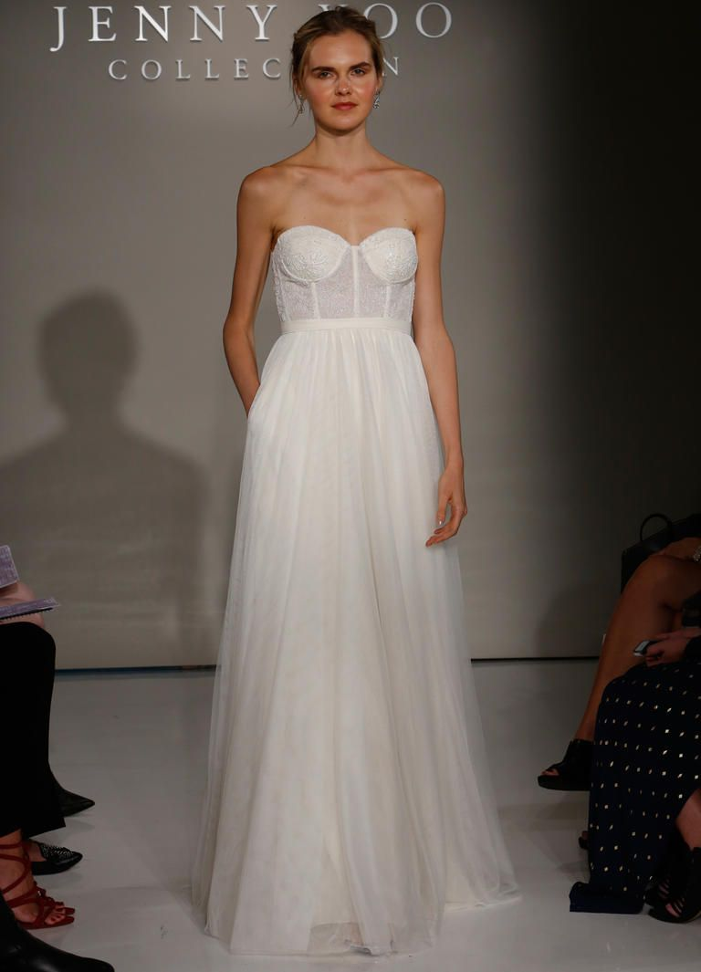 Floral Accents in Jenny Yoo\'s Fall 2016 Wedding Gowns | Strapless ...